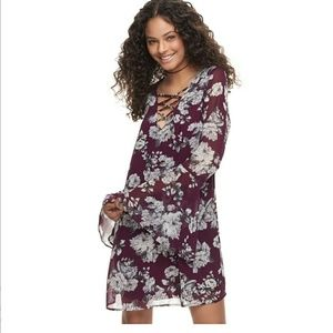 Speechless Floral lattice dress